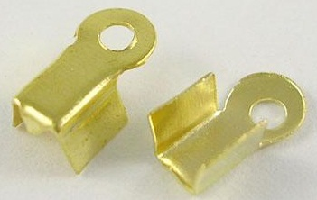 CEGNF01 8.5mm Gold Colour Nickel Free Folding Cord Ends 20 pack