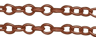 CHFCLNF06 A Copper Colour Lead and Nickel Free Chain per Metre