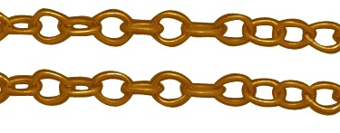 CHFGLNF06 Gold Colour Lead and Nickel Free Chain per Metre