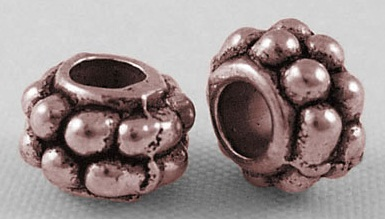 CLNF17 Antique Copper Lead and Nickel Free Bead 40 pack