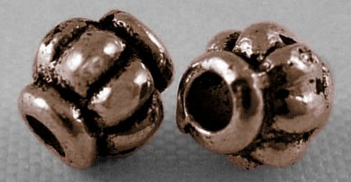 CLNF25 Antique Copper Lead and Nickel Free Bead 45 pack