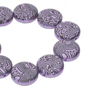 14mm 2 Hole Coins 10 Pack Jet Violet Laser Contour 23980 25012CL