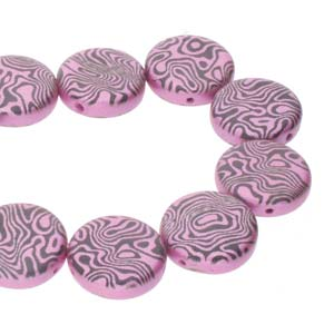 14mm 2 Hole Coins 10 Pack Jet Pink Laser Contour 23980 25512CL
