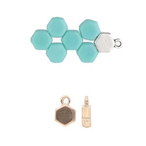 Cymbal Elements Maragas Honeycomb End Piece Rose Gold Plate 2 pk