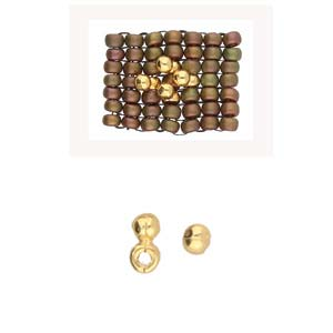 Cymbal Elements Elasa Size 8 Bead Sub 24K Gold Plate 4 pack