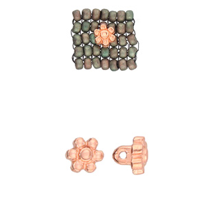 Cymbal Elements Amoudi Size 8 Bead Sub Rose Gold Plate 2 pack