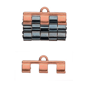 Cymbal Elements Piperi 3 Tila End Piece Rose Gold Plate 2 pack