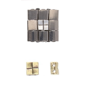 Cymbal Elements Voutakos Tila bead sub A Brass Plate 2 pack