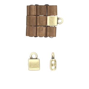 Cymbal Elements Piperi Tila End Piece A Brass Plate 2 pack