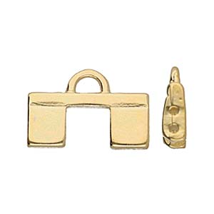 Cymbal Elements Piperi 2 Tila End Piece 24K Gold Plate 2 pack