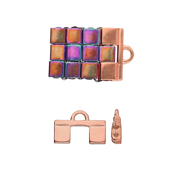 Cymbal Elements Piperi 2 Tila End Piece Rose Gold Plate 2 pack