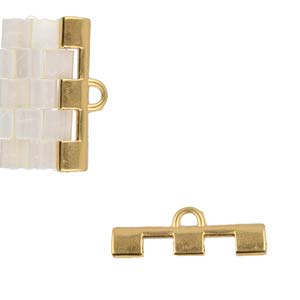 Cymbal Elements Soros 3 Tila End Piece 24K Gold Plate 2 pack