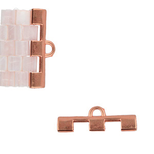 Cymbal Elements Soros 3 Tila End Piece Rose Gold Plate 2 pack