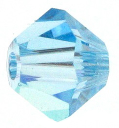 4mm Faceted Bicone CZB04/202 Light Sky Blue 25 pack