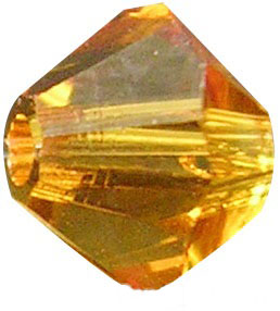 4mm Faceted Bicone CZB04/203 Gold 25 pack