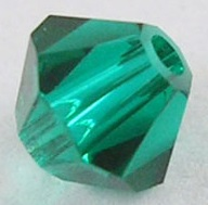 4mm Faceted Bicone CZB04/205 Green 25 pack