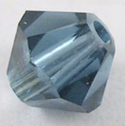 4mm Faceted Bicone CZB04/207 Steel Blue 25 pack
