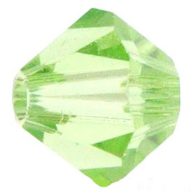 4mm Faceted Bicone CZB04/214 Light Green 25 pack