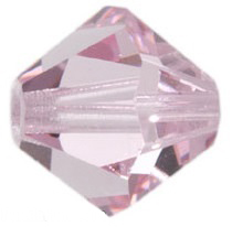 4mm Faceted Bicone CZB04/223 Pink 25 pack