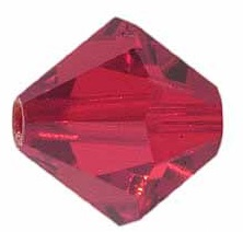 4mm Faceted Bicone CZB04/227 Red 25 pack