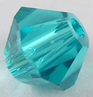 4mm Faceted Bicone CZB04/229 Turquoise 25 pack