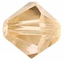 4mm Faceted Bicone CZB04/246 Light Brown 25 pack