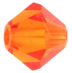 4mm Faceted Bicone CZB04/248 Orange 25 pack