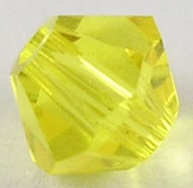 4mm Faceted Bicone CZB04/249 Bright Yellow 25 pack