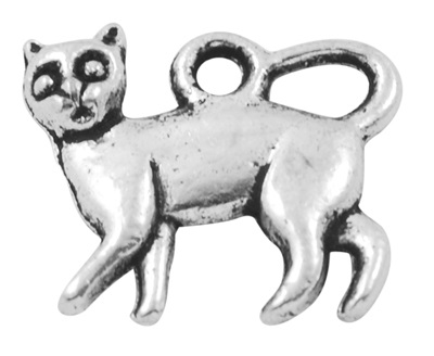 15mm Antique Silver Cat Lead and Nickel Free