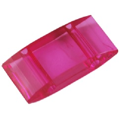 2 Hole Acrylic Spacer or Carrier Beads 25 pack dark pink