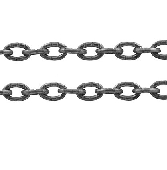 CHFSLNF08 Silver Colour Lead and Nickel Free Chain per Metre