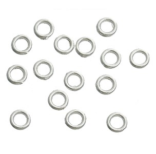 8mm Sterling Silver Closed Jump Rings 10 pack