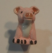 Peruvian Animal Bead - Sitting Pig