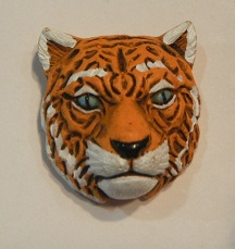 Peruvian Animal Bead - Tiger Head