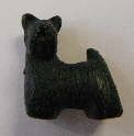Peruvian Animal Bead - Black Scottie Dog
