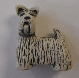 Peruvian Animal Bead - Grey Scottie Dog