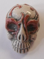 Peruvian Fantasy Bead - Skull with Pink Mask