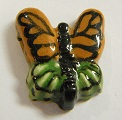 Peruvian Animal Bead - Butterfly (colour varies)