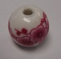 Handmade Porcelain Beads - 14mm Pink Large Flower Bead