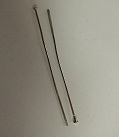 HPSNF1.5 Silver Colour Nickel Free 15mm Head Pins 10 Pairs