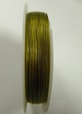 Old Gold colour tigertail.  0.45mm wide. 50 metre roll 1 reel