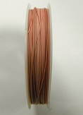 Pink colour tigertail.  0.45mm wide. 50 metre roll 1 reel