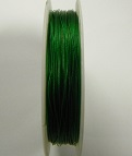 Green colour tigertail.  0.45mm wide. 50 metre roll 1 reel