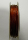 Copper colour tigertail.  0.45mm wide. 50 metre roll 1 reel