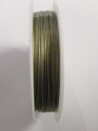 Silver colour tigertail.  0.45mm wide. 50 metre roll 1 reel