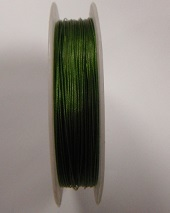 Green gold colour tigertail.  0.45mm wide. 50 metre roll 1 reel