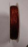Red colour tigertail.  0.45mm wide. 50 metre roll 1 reel
