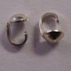 Sterling Silver Single Cup Bead Tip with Loop 2 pairs