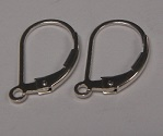 Sterling Silver Lever Back Ear Wire 1 pair