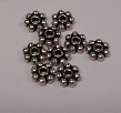 4mm Sterling Silver Bali Flower Bead Spacers 20 pack